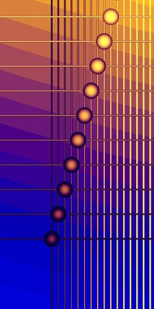 Beads and crossed lines on the colorful background. Computer-generated image photo