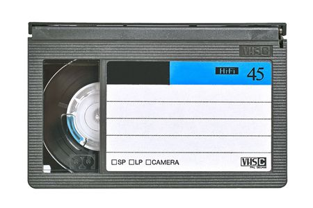 video cassette. Isolated close-up image on white background