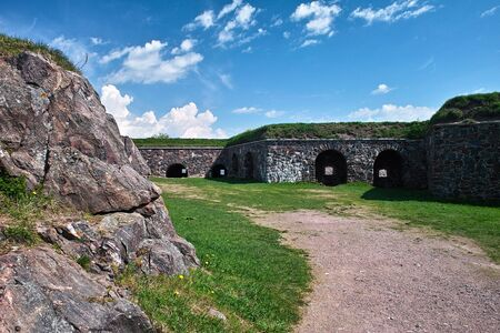 Old walls and bastions of Sweaborg fortress, Finland