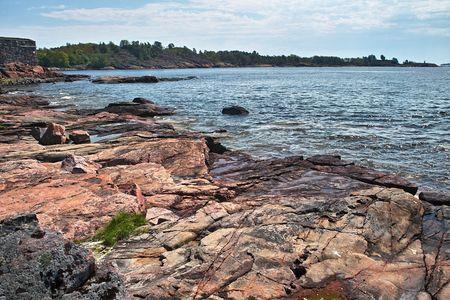 Baltic sea and rocky shore near Helsinki, Finland Stock Photo - 7151241