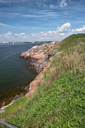 Baltic sea and rocky shore near Helsinki, Finland Stock Photo - 7151240