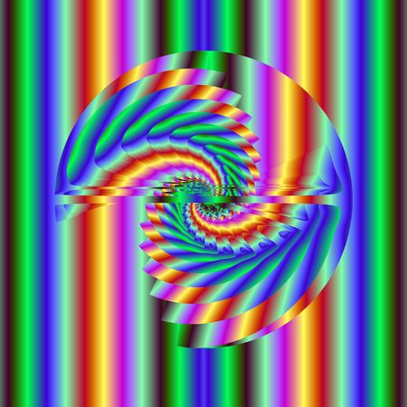 Abstract rainbow helix. Computer generated fractal image Stock Photo - 7247079