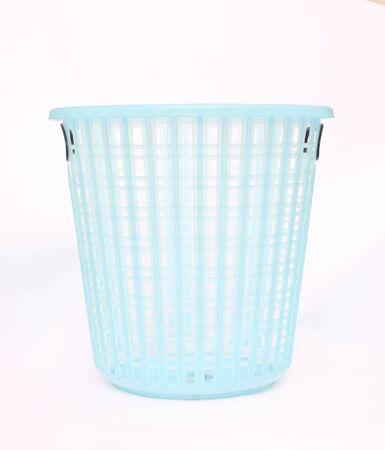 empty basket: Blue plastic empty basket