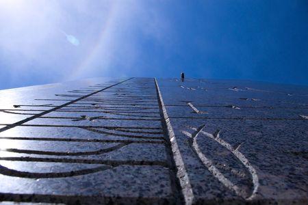 sundial obelisk Stock Photo