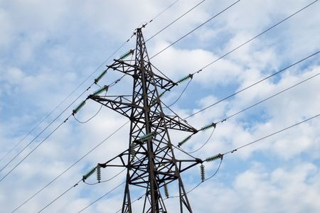 power transmission tower with cables Stock Photo - 928136