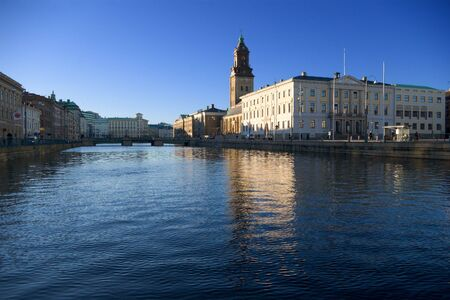 center of Gothenburg city near big harbour canal ( stora hamn kanalen) Stock Photo - 966561