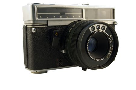 rangefinder: old range-finder camera with automatic metering Stock Photo