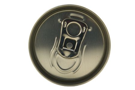 top of the beverage can isolated on white Stock Photo - 1125926