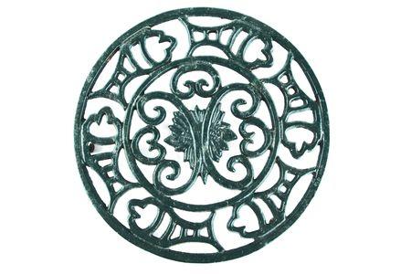 trivet: ornate old cast iron trivet