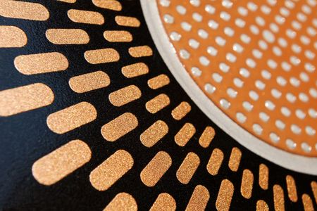abstract geometric enamel and metal texture Stock Photo - 1343623