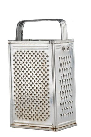 grater: kitchen grater made of steel isolated on white