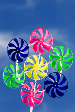 spinner toy on the blue skies background