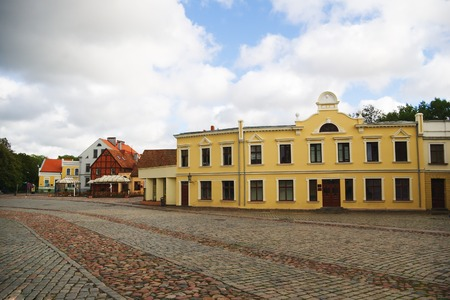 central square: Klaipeda piazza centrale sulla nuvoloso giorni