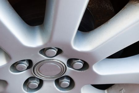 section of a light alloy car wheel Stock Photo - 1829237