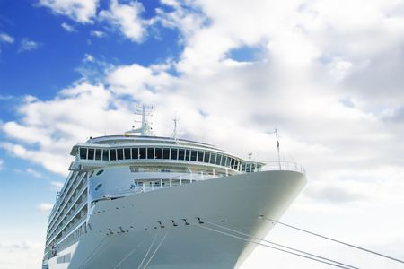 big cruise ship under the skies  Stock Photo