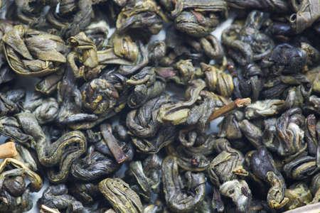 gunpowder tea: special gunpowder green tea background