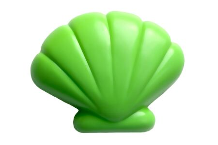 plastic beach toy in the form of a shell