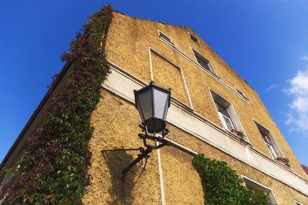 yellow  house in Klaipeda historic part Stock Photo - 2039451