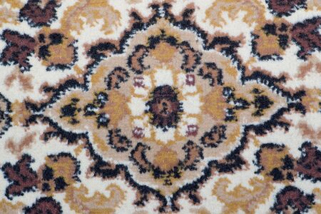 old carpet background with ornament