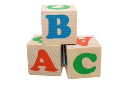 toy blocks: wooden toy blocks on white background