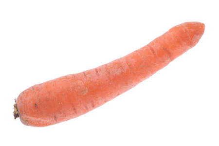 washed: washed carrot isolated on white