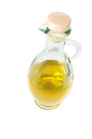 extra virgin olive oil in glass jar photo