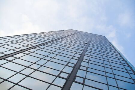 diagonals: modern glass building rising to the sky