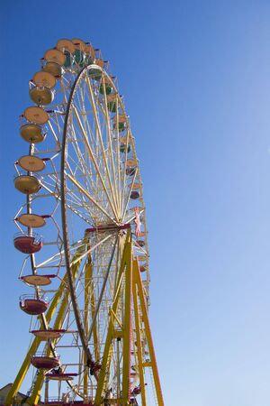 observation wheel: observation wheel on sunny day