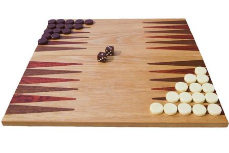 side view of backgammon board Stock Photo