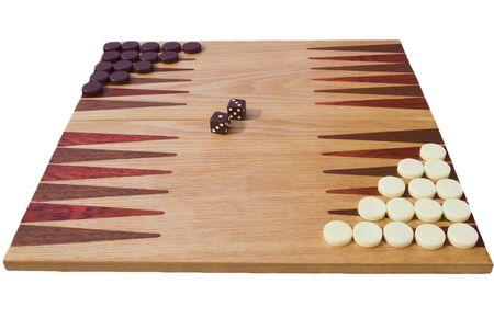 side view of backgammon board Stock Photo