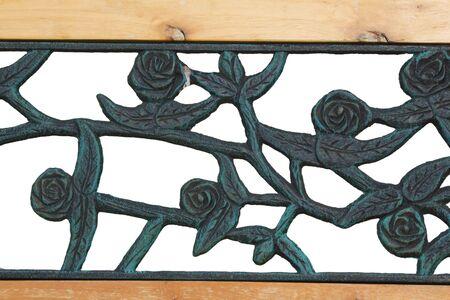 die cast steel  and  wood ornamental fragment photo