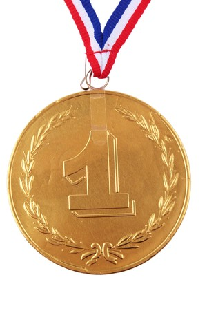 chocolate medal isolated on white Stock Photo - 3953850