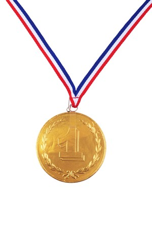chocolate medal isolated on white Stock Photo - 3953840