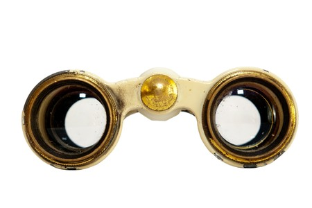 collectable: front view of an old theater binoculars