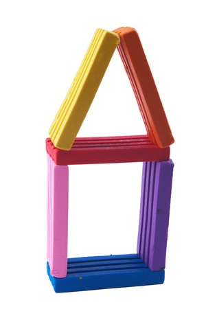 house made of modeling clay blocks Stock Photo - 4175286