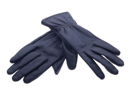pair of black leather gloves photo