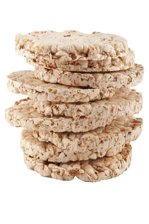 galettes: stack of healthy puffed corn galettes