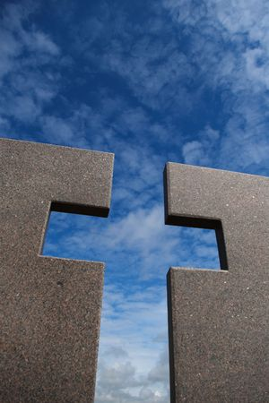 speckle: granite  cross under the blue skies