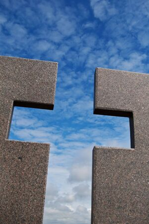 granite and sky cross Stock Photo