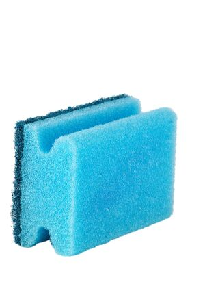 fibrous: kitchen artificial sponge isolated over white background Stock Photo