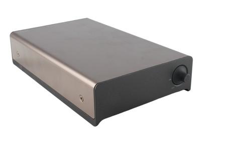 external harddrive case isolated on white photo