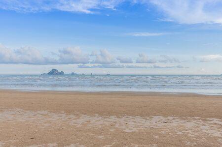 Sea beach and blue sky, Krabi, Thailand.