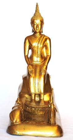 Buddha images on Wednesday Night isolated white background