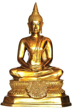 Buddha images on Thursday isolated white background