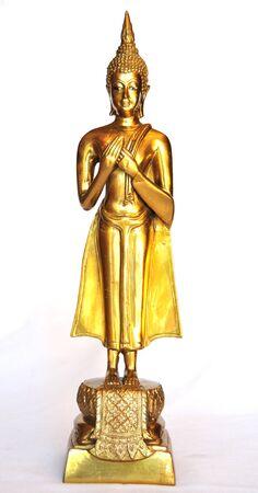 Buddha images on Friday isolated on white background