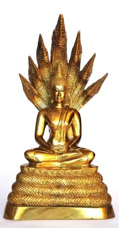 Buddha images on Saturday isolated on white background Stock Photo