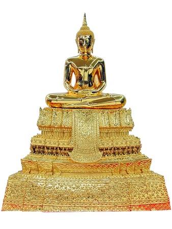 Buddha model Watpho  Phra Buddha Deva Patimakorn  solated on white background