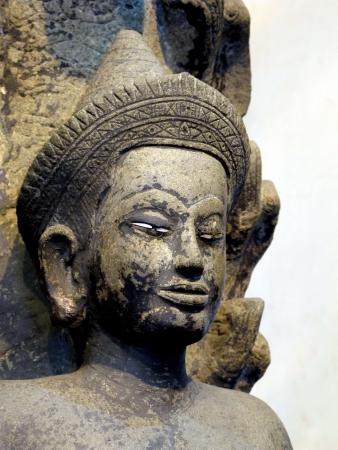 3636;Buddha Stone in Watpho solated on white background Stock Photo