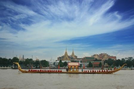 Suwan boats Grand Palace at Thailand Stock Photo