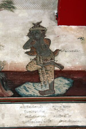 Hermit Painting Duttonat The Matchimawat Thailand photo